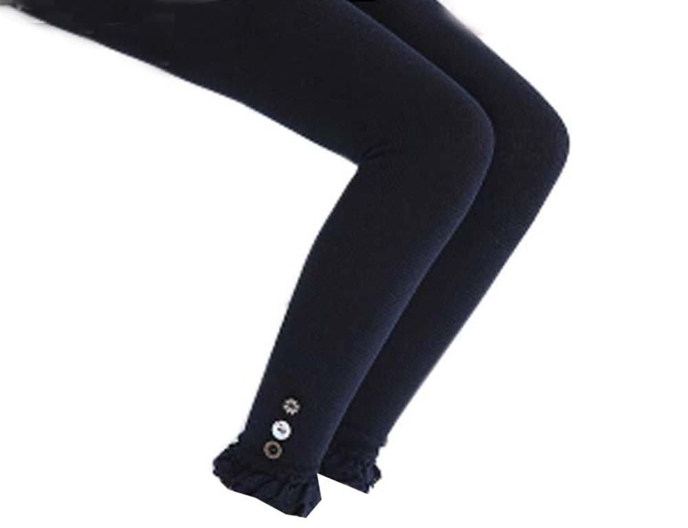 Black Temptation Stylish Boutons Style Collants Collants Leggings Femmes Pantalons pour Enfants/Enfants, 04