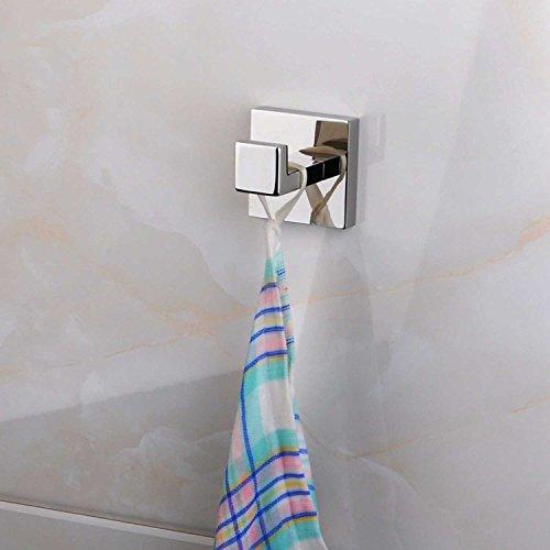 ThinkTop 5pcs Luxury 304 Stainless Steel Bathroom Single Towel Hook Robe Chrome Wall Mount Coat Hat Door Hook Hanger Mirror Polished Bathroom Accessories by ThinkTop (Image #3)