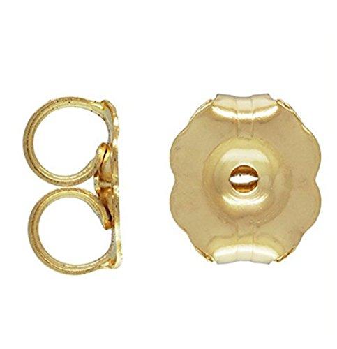 20pcs 14k Gold on Sterling Silver Butterfly Earring Safety Back Earnuts 5mm for Stud Drop Earrings SS263