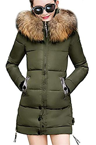 Doudoune Femme avec Manteau Styles Chaud Capuchon Fourrure Longue Parka Mince El Oversize Young Hiver Fashion S8w0xq