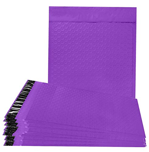 10 Pack Purple Poly Bubble mailers 8.5 x 11. Padded envelopes 8 1/2 x 11 Cushion envelopes. Peel and Seal. Top Quality laminated shipping bags for mailing, packing. Packaging in bulk, wholesale price. -