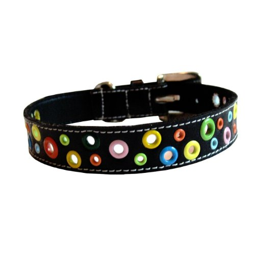 Leather Puppy Loki (The Cool Puppy XXL Loki Puppy Leather Dog Collar - Black)