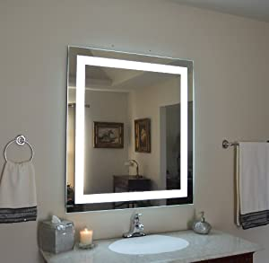 wall mounted lighted vanity mirror led mam83648 commercial grade 36 x48 home kitchen. Black Bedroom Furniture Sets. Home Design Ideas