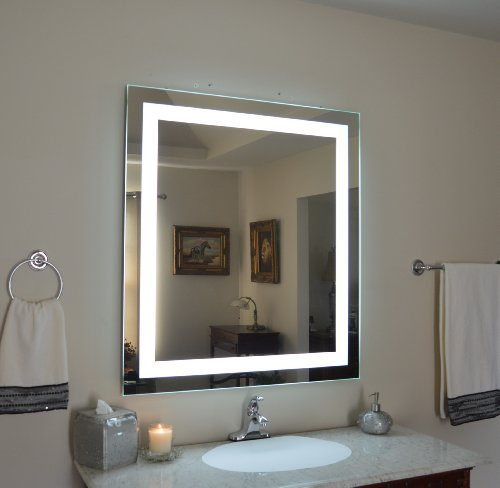 Amazoncom Wall Mounted Lighted Vanity Mirror Led Mam83640