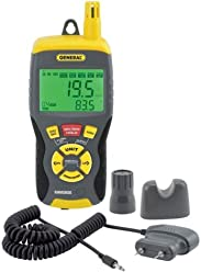 General Tools RHMG650 9-In-1 Thermo-Hygrometer with Pin/Pinless Moisture Meter