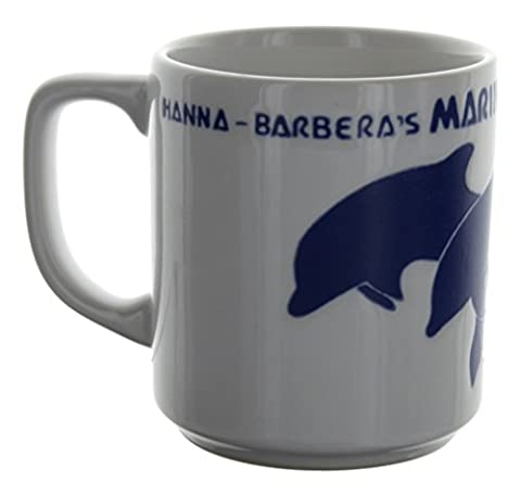 Historic Hanna Barbera's Marineland Blue Dolphins Souvenir Coffee Tea Mug - Barbera Coffee