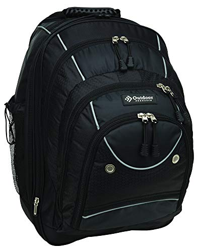 Outdoor Products Sea-Tac Rolling Backpack, 50.2-Liter Storage, Black