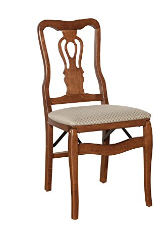 Stakmore Chippendale Folding Chair Finish, Set of 2, Cherry