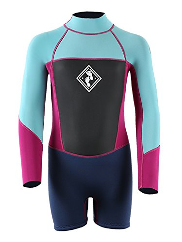 Two Bare Feet MD JUNIOR KIDS Squadron Long Sleeve/Shorty Wetsuit by TBF Watersports Swim Surf