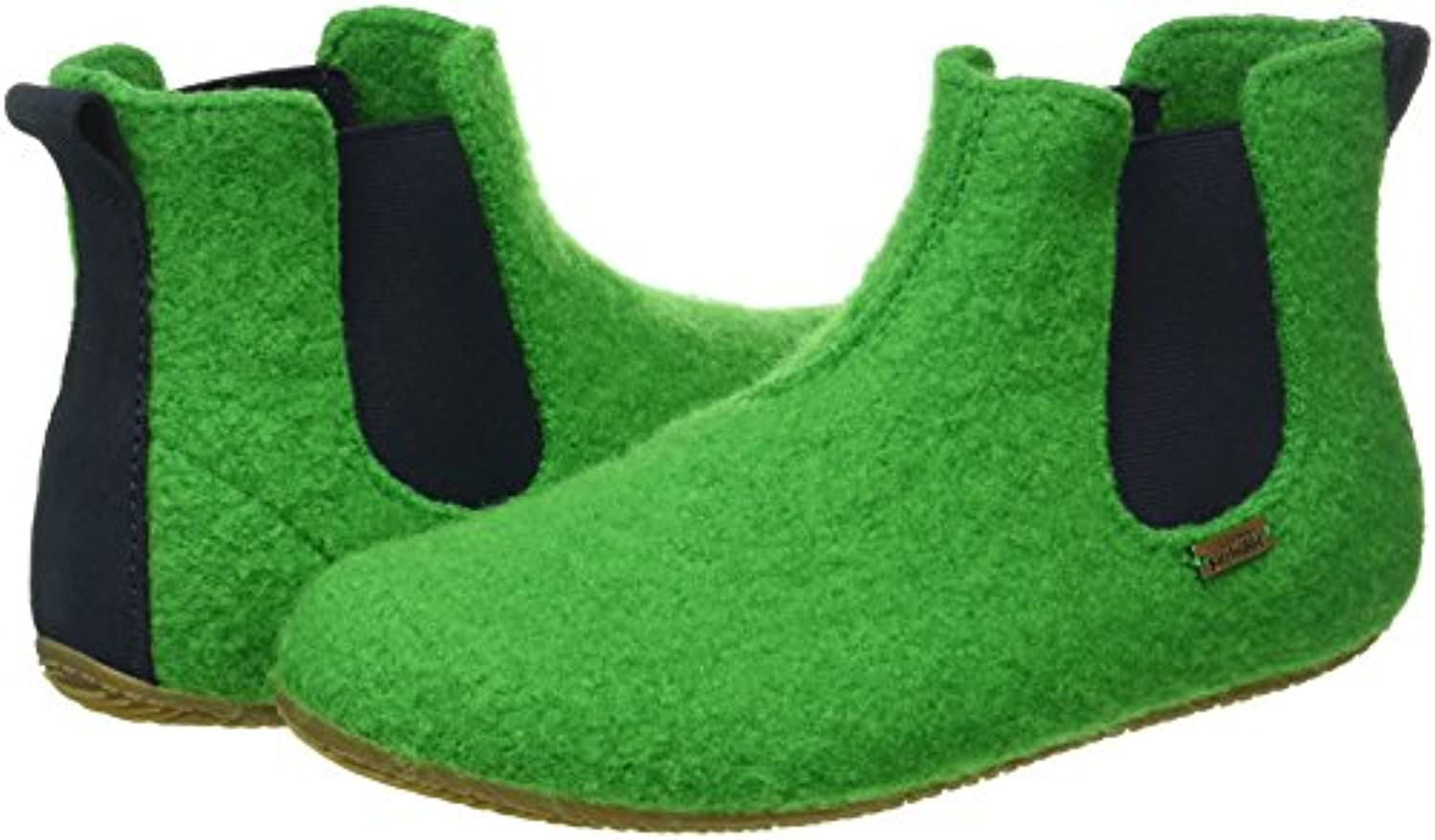 Living Kitzbuhel Boys Chelsea Boot Hi-Top Slippers, Green (Emerald 441), 1 Child UK 33 EU