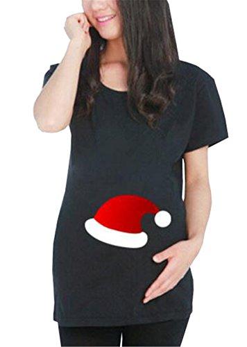 AILIENT Estive Black9 Top Comoda Maternità Magliette Rotondo Bluse Scollo Premaman Magliette Taglie Maternity Gravidanza Forti Stampate Donna Fantasia di T Shirt r4xq5rR