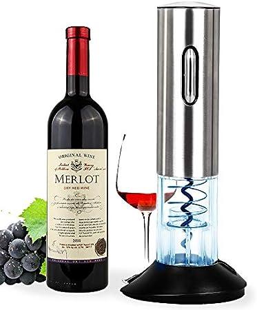 Abrebotellas Eléctrico, Sacacorchos, Abrelatas Automático de Vino, Juego de Abrebotellas sin Cuerda de Acero Inoxidable, El regalo ideal para los amantes del vino y la enología