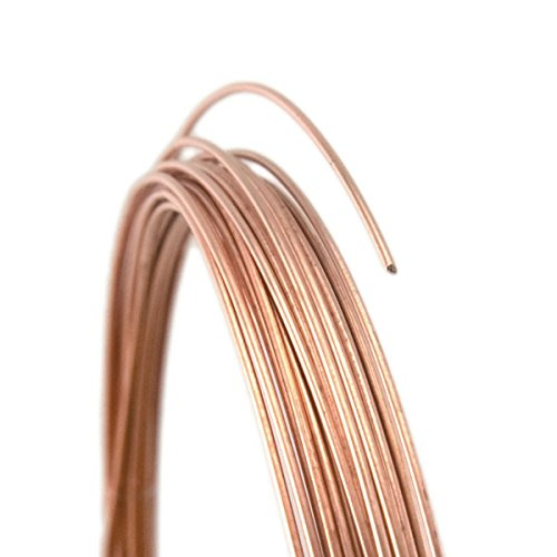28 Gauge Round Dead Soft 14/20 Rose Gold Filled Wire - 25FT - Gauge Gold Wire Filled Round