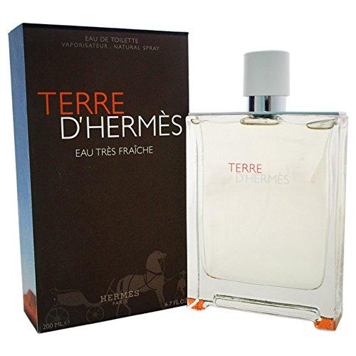 HERMES Terre d'Hermes Eau Tres Fraiche Eau de Toilette Natural Spray For Men Full Size 6.7 FL.OZ. / 200 ML Factory Sealed in Plastic Retail Box by Hermes