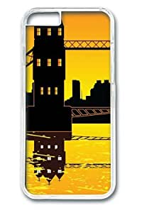 Bridge Over Water21 Polycarbonate Hard Case Cover for iPhone 6 4.7inch Transparent