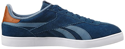Reebok Classics Mens Royal Alperez Blue, Slate, Brown, White and Gold Leather Sneakers - 11 UK/India (45.5 EU)(12 US)