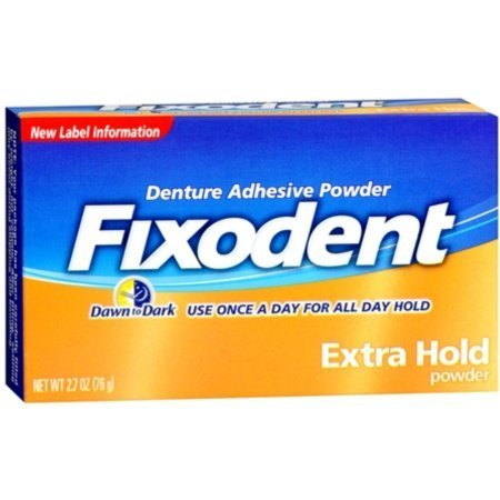 Fixodent Denture Adhesive Powder Extra Hold 2.70 oz (Pack of 11)