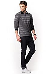 DeFacto Men's Striped Polo T-Shirt S Black