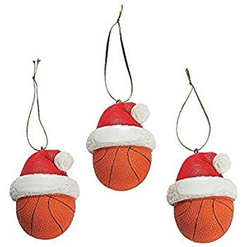 basketball christmas holiday sports ornaments 12 pieces