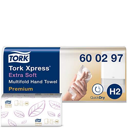 Tork Xpress extra weiche Multifold Papierhandtücher 600297 – H2 Premium Falthandtücher für Handtuchspender – extra weich…
