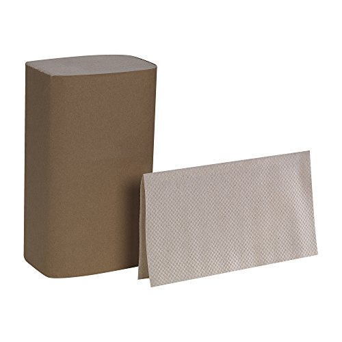 Dispenser Single Fold (Pacific Blue Basic S-Fold Recycled Paper Towel by GP PRO, Brown, 23504, (Case of 16 Packs, 250 Towels per Pack))