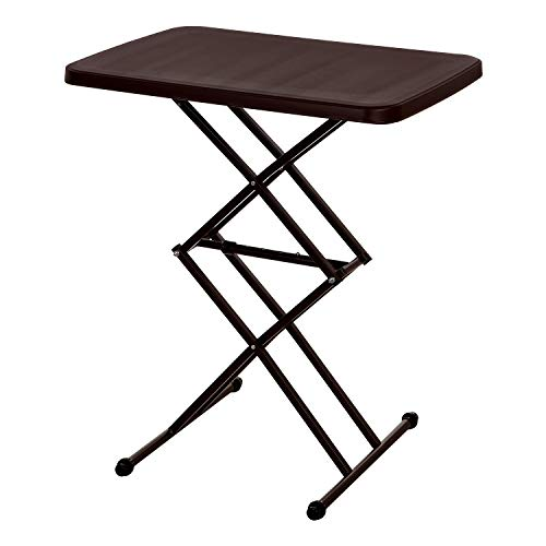 Supreme-Scissor-Height-Adjustable-Multi-Purpose-Plastic-Table-for-Study-Dining-Outdoor-Folding-Table-Rectangular-Globus-Brown
