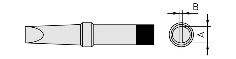 Weller 4PTC8/Soldering Tip for FE50/M//TCPS