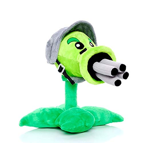 RAFGL 30Cm Plants Vs Zombies Gatling Peashooter Plush Toys Doll Game Plants Vs Zombies PVZ Plush Stuffed Toys Gifts for Children Kids Teen Must Haves 5 Year Old Boy Gifts My Favourite Superhero Dream by RAFGL