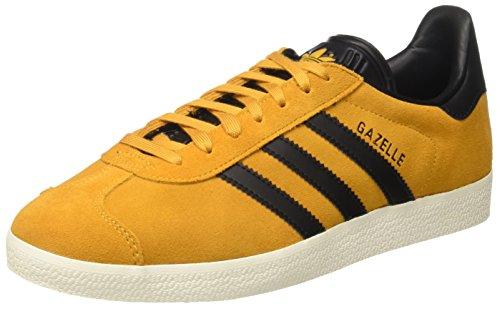 adidas Originals Gazelle S76228, Scarpe da Ginnastica Basse Uomo Giallo (Tactile Yellow F17/Core Black/Gold Met.)