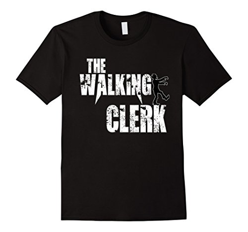 Mens Clerk gift T shirts, Office Worker Boo Scary zombie tees 3XL Black