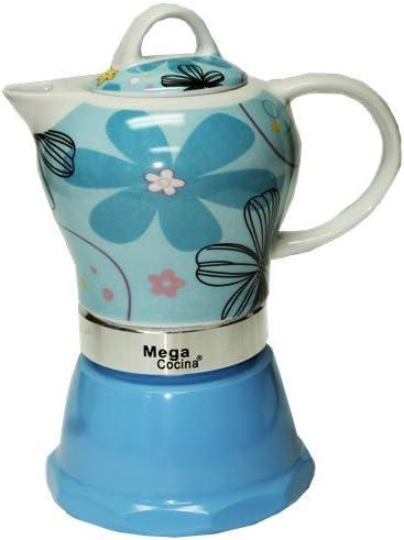 Cubana Café cafetera 4 tazas, color azul: Amazon.es: Hogar