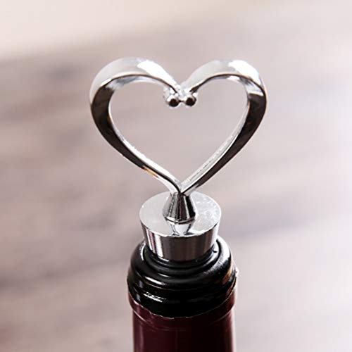 (Wine Stoppers - Elegant Heart Shaped Wine Stopper Bottle Wedding Favors Brand - Display Jamaica Star Pineapple Beach Day Wars Girly Vacuvin Bulk)
