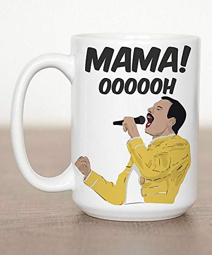 Famous Singer In Yellow Jacket Singing Mama Ohhhh Coffee Mug - 15Oz White Gift For Fans Lover Mother Father Wife Husband In Christmas Birthday Anniversary Celebration Party ()
