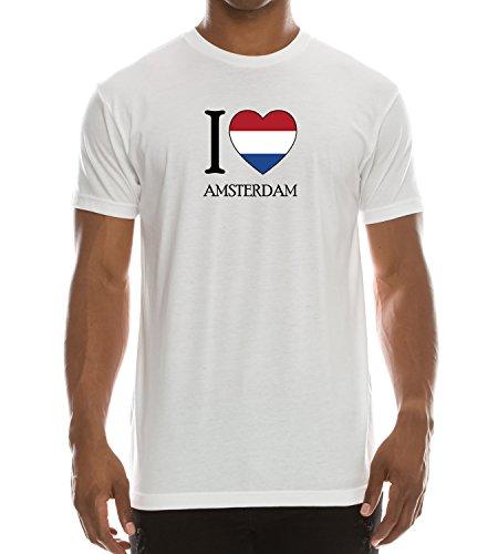 Trendy Apparel Shop I Love Amsterdam Printed Short Sleeve T-Shirt - White - M by Trendy Apparel Shop (Image #2)