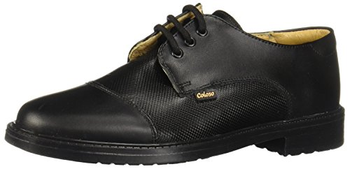 Coloso 5701 Zapatos de Primeros Pasos para Bebé-Niños, Color Piel Negro, 24