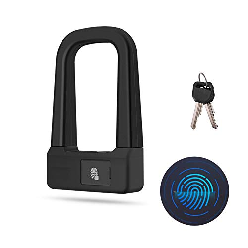 WSXX Smart Fingerprint Unlock U-Lock, Bicycle Lock, Motorcycle Anti-Theft Charging Smart Home U-Shaped
