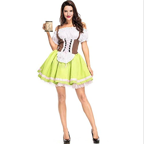 Stuffwholesale Women's Beer Maid Costume Dress Halloween Costume