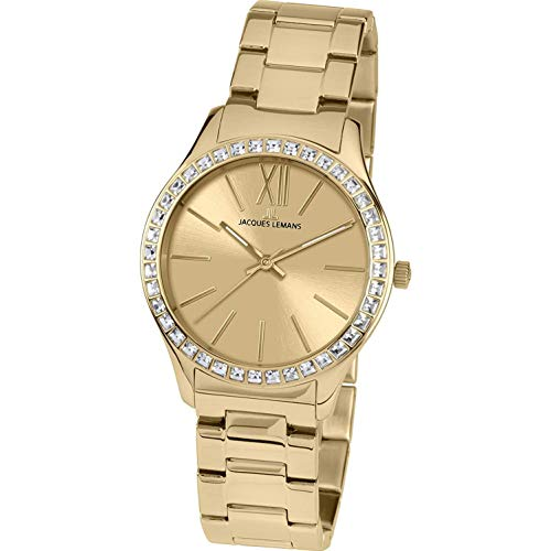 Jacques Lemans ROME 1-1841G Wristwatch for women With Swarovski crystals