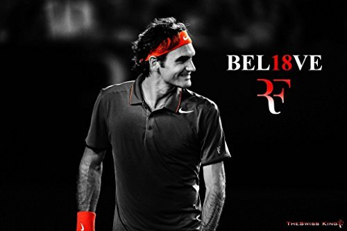 Go Awesome Roger Federer Poster Paper Print(12 Inch X 18 Inch, Rolled)
