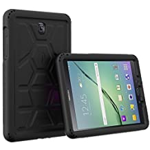 Poetic Cases TurtleSkin Heavy Duty Protection Silicone Case with Sound-Amplification Feature for Samsung Galaxy Tab A 8.0 Black