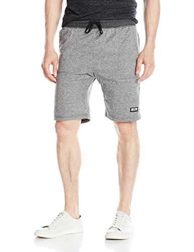 brooklyn-athletics-mens-casual-lounge-drawstring-knit-shorts-black-marl-small