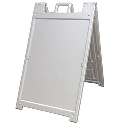 Amazon.com : Portable Two-sided A-frame Sign Holder - White - Fits ...