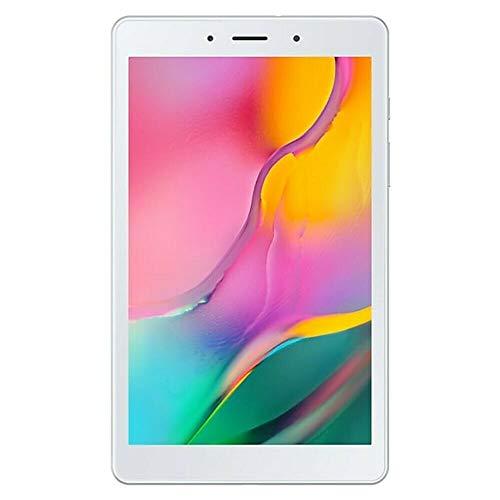 Samsung Galaxy Tab A 8.0″ (2019, WiFi + Cellular) 32GB, 5100mAh Battery, 4G LTE Tablet & Phone (Makes Calls) GSM Unlocked SM-T295, International Model (32 GB, Silver)