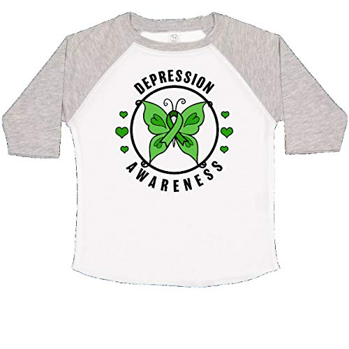 inktastic - Butterfly and Green Toddler T-Shirt 2T White and Heather 32acf