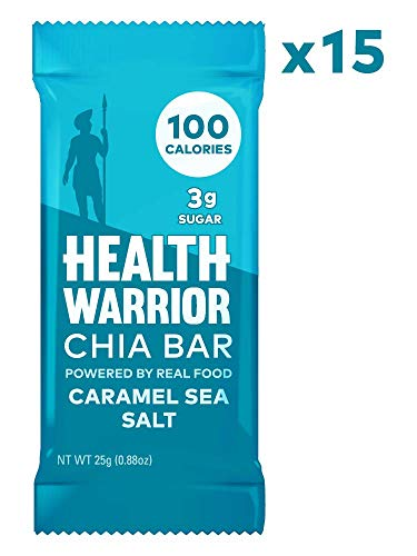 Health Warrior Chia Bars, Caramel Sea Salt, Gluten Free, Vegan, 25g Bars, 15 Count (Best Sea Salt For Your Health)