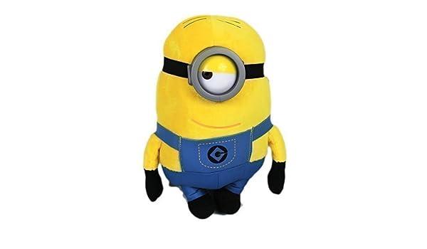 Amazon.com: Whitehouse Minions 30-34Cm Grand Avec Verres En Plastique Moi, Moche Et Méchant 1&2 Peluche Figure Jaune Doux - Stuart: Toys & Games