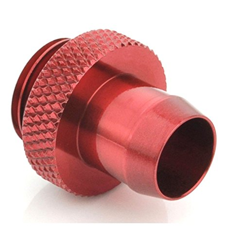 """Bitspower G1/4"""" to 3/8"""" Stubby Barb Fitting, Deep Blood Red"""