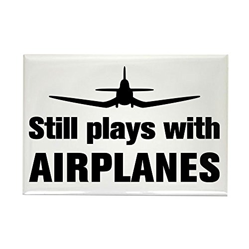 CafePress Still plays with Airplanes-Co Rectangle Magnet Rectangle Magnet, 2