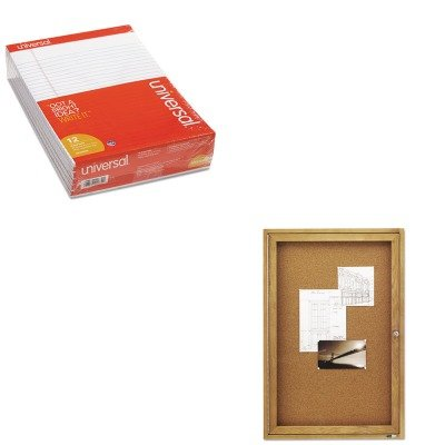 KITQRT363UNV20630 - Value Kit - Quartet Enclosed Bulletin Board (QRT363) and Universal Perforated Edge Writing Pad (UNV20630) by Quartet