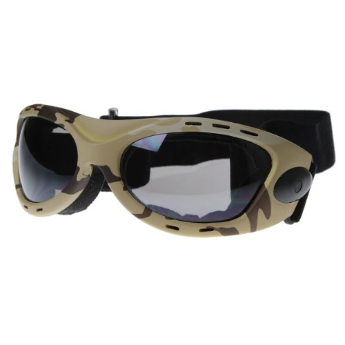 zeroUV - Large Active Sports Goggles Protective Camouflauge Eyewear with Adjustable Strap - Sunglasses Desert Military